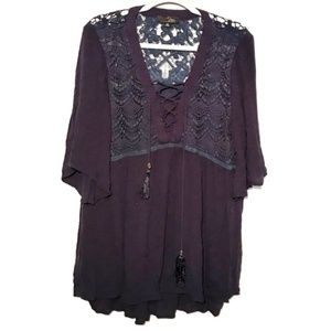 Suzanne Betro lace boho top